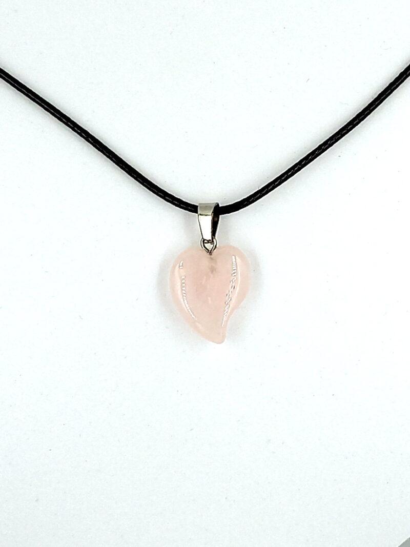 Obesek srce - rožnati kremen