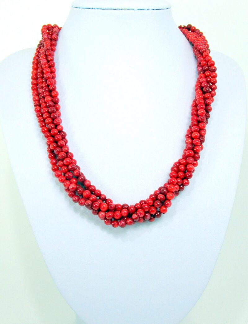 Ogrlica iz bambusove korale - OGKOR5