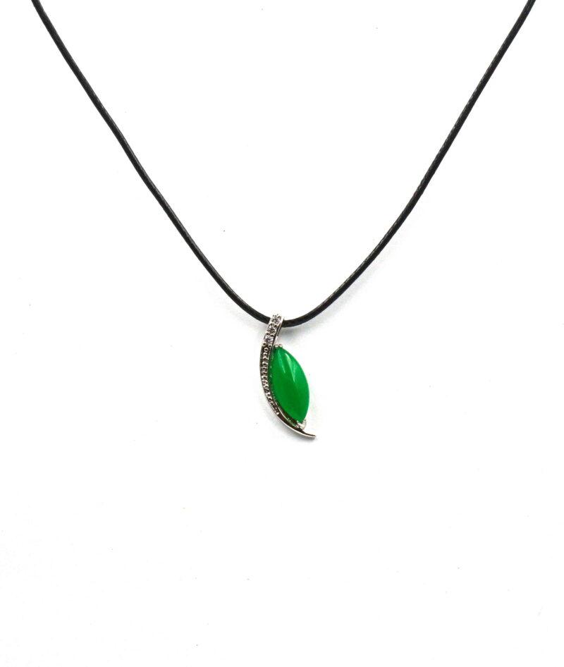 Smaragdni žad obesek - PERO