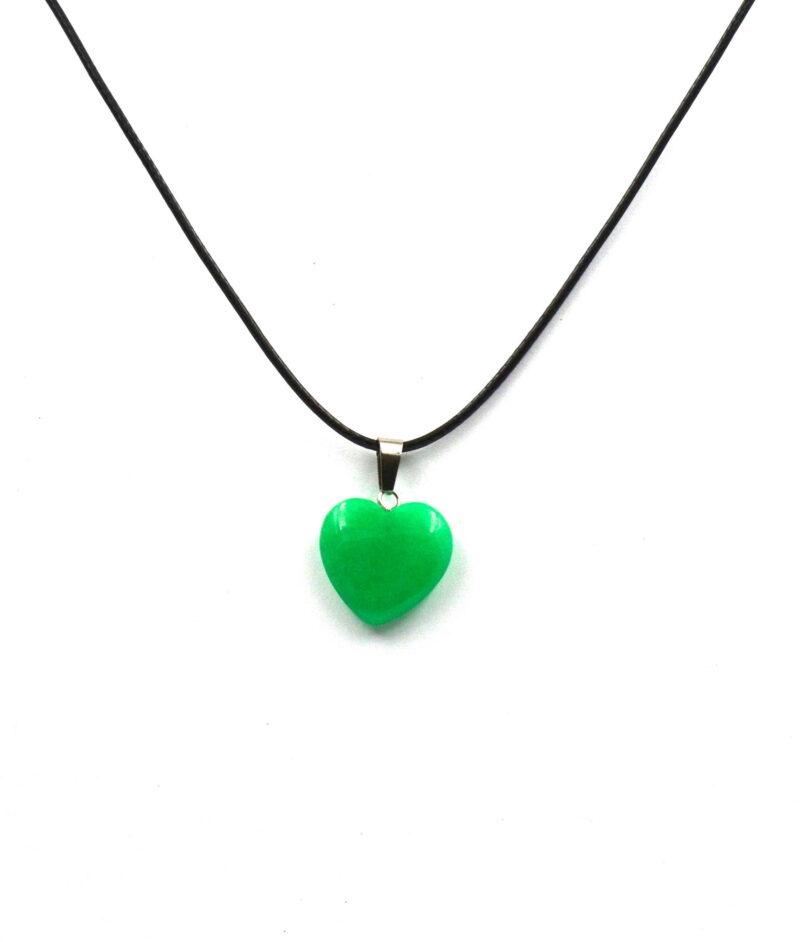 Smaragdni žad obesek - SRCE