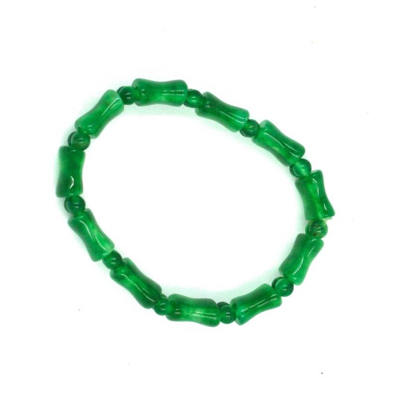 Smaragdni žad zapestnica - ploščice